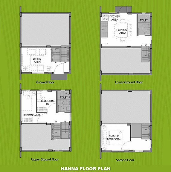 Hanna Floor Plan House and Lot in Bulacan
