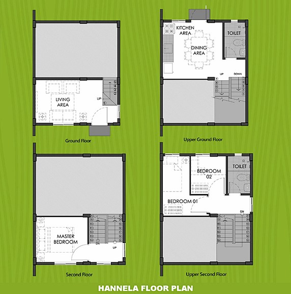Hannela Floor Plan House and Lot in Bulacan