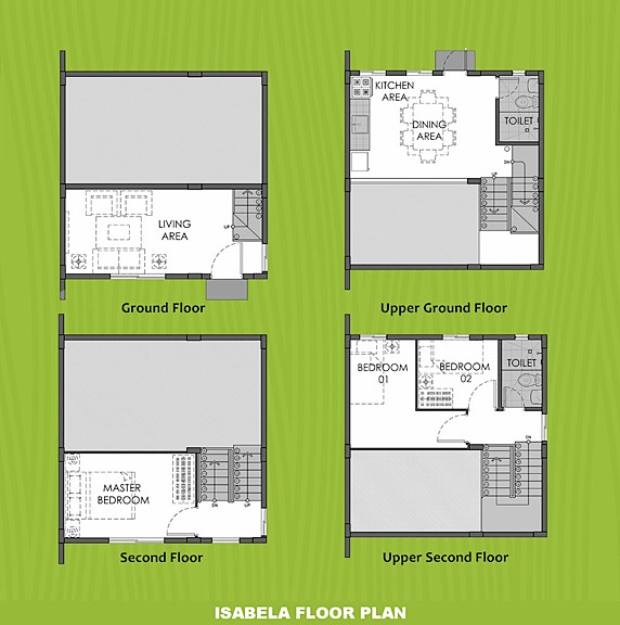 Isabela Floor Plan House and Lot in Bulacan