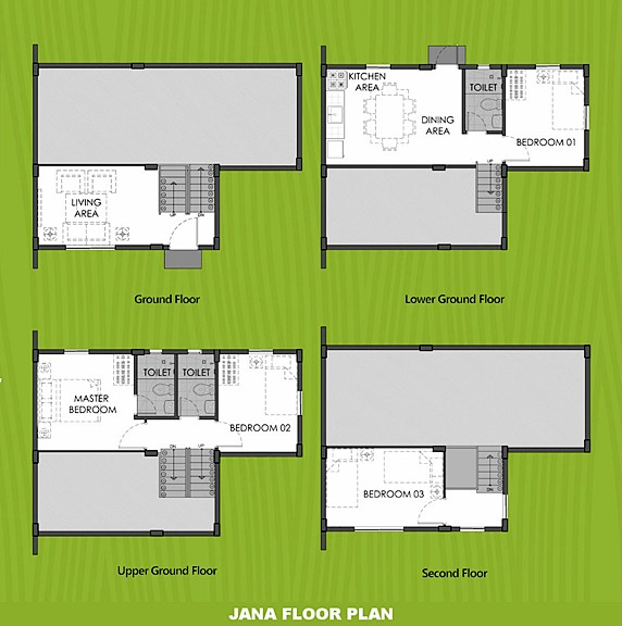 Janna Floor Plan House and Lot in Bulacan