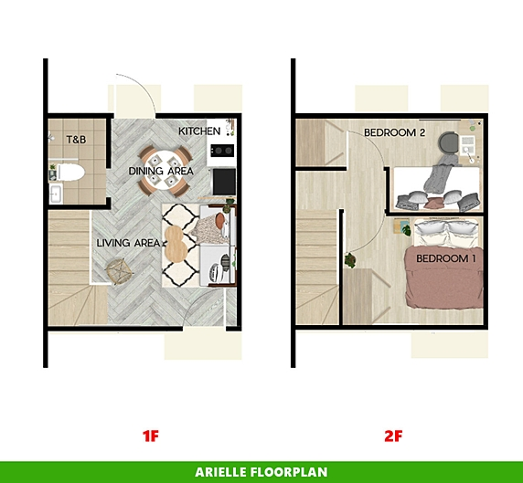 Arielle Floor Plan House and Lot in Bulacan