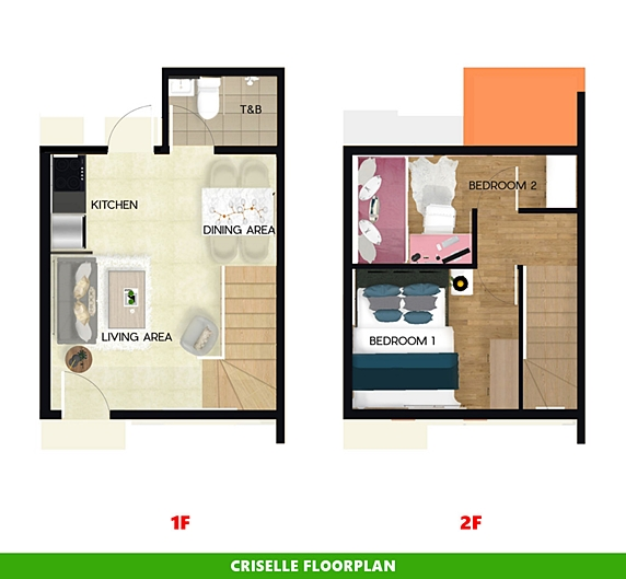 Criselle Floor Plan House and Lot in Bulacan