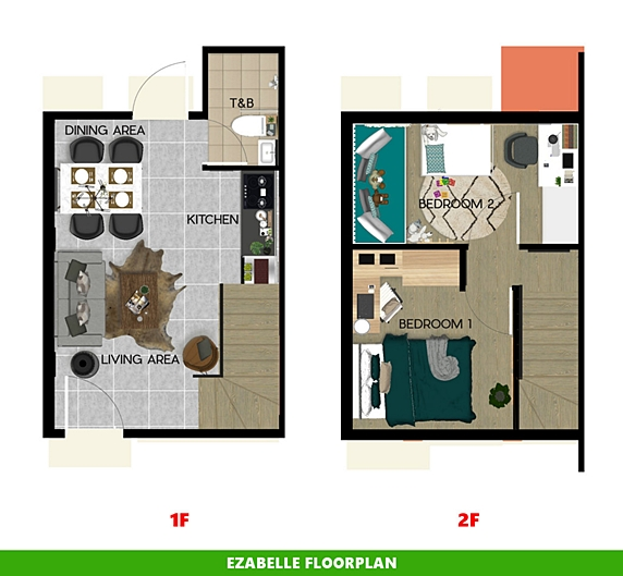 Ezabelle Floor Plan House and Lot in Bulacan