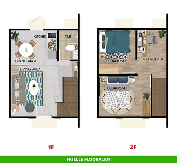 Frielle Floor Plan House and Lot in Bulacan